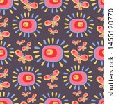 seamless pattern with cute... | Shutterstock .eps vector #1455120770