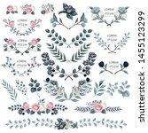 vector illustration of floral... | Shutterstock .eps vector #1455123299