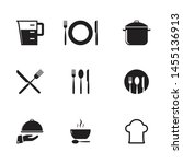 cooking and kitchen icon set.... | Shutterstock .eps vector #1455136913