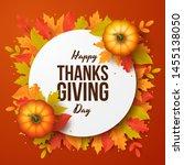 happy thanksgiving day... | Shutterstock .eps vector #1455138050
