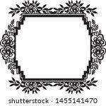 elegant wallpaper with cute... | Shutterstock .eps vector #1455141470