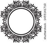 beautiful wedding frame ... | Shutterstock .eps vector #1455141710