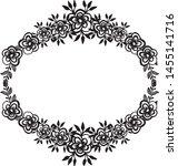 beautiful wedding frame ... | Shutterstock .eps vector #1455141716