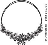 beautiful wedding frame ... | Shutterstock .eps vector #1455141719