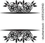 vintage wedding design  with... | Shutterstock .eps vector #1455142940