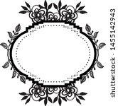 vintage wedding design  with... | Shutterstock .eps vector #1455142943