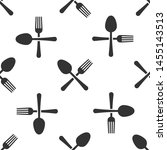 grey crossed fork and spoon... | Shutterstock .eps vector #1455143513
