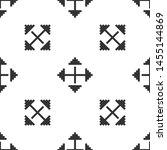 grey pixel arrows in four... | Shutterstock .eps vector #1455144869
