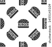 grey burger icon isolated... | Shutterstock .eps vector #1455145109