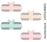 christmas flat gift. new year... | Shutterstock .eps vector #1455148853