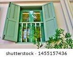 perspective view of vintage...   Shutterstock . vector #1455157436