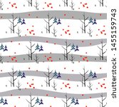 holiday pattern with trees ... | Shutterstock .eps vector #1455159743