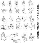 vector finger gestures | Shutterstock .eps vector #145516186