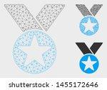mesh star medal model with... | Shutterstock .eps vector #1455172646
