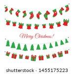 christmas garlands set isolated ... | Shutterstock .eps vector #1455175223