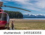 Red Helicopter And Bicycle Is...