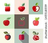 apple. elements for design | Shutterstock .eps vector #145518559