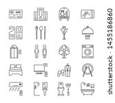 thin line icons set hotel and... | Shutterstock . vector #1455186860