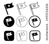 flag icon simple sign symbol | Shutterstock .eps vector #1455216326