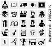 school and education vector... | Shutterstock .eps vector #145522540