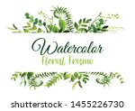 vector floral greenery card... | Shutterstock .eps vector #1455226730