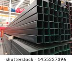 stack of  square  steel pipes ...   Shutterstock . vector #1455227396