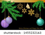 merry christmas greeting card.... | Shutterstock .eps vector #1455232163