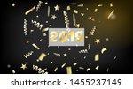 2019 gold explosion  stars ... | Shutterstock .eps vector #1455237149