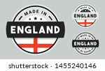 made in england collection of... | Shutterstock .eps vector #1455240146