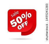 label sale of special offer.... | Shutterstock .eps vector #1455241283