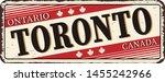 welcome to toronto canada rusty ... | Shutterstock .eps vector #1455242966