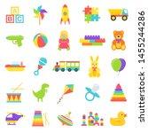 baby toy. vector. kids toys... | Shutterstock .eps vector #1455244286
