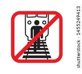do not walk the railway lines   ... | Shutterstock .eps vector #1455249413