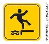 riverbank danger of falling.... | Shutterstock .eps vector #1455252650