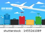 travel concept. vector. baggage ... | Shutterstock .eps vector #1455261089