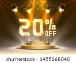 scene golden 20 sale off text... | Shutterstock .eps vector #1455268040