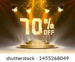 scene golden 70 sale off text... | Shutterstock .eps vector #1455268049