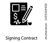 signing contract in solid... | Shutterstock .eps vector #1455269450