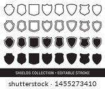 vector black and white shields... | Shutterstock .eps vector #1455273410