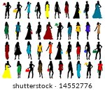 fashion models | Shutterstock .eps vector #14552776