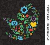 social media bird illustration | Shutterstock .eps vector #145528663