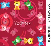 color vector bear  baby picture ...   Shutterstock .eps vector #1455297230