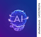 ai. artificial intelligence... | Shutterstock .eps vector #1455298196