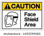 caution face shield area symbol ... | Shutterstock .eps vector #1455299483