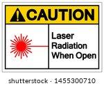 caution laser radiation when... | Shutterstock .eps vector #1455300710