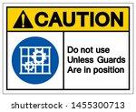 caution do not use unless... | Shutterstock .eps vector #1455300713