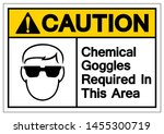 caution chemical goggles... | Shutterstock .eps vector #1455300719