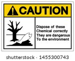 caution dispose of these... | Shutterstock .eps vector #1455300743