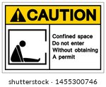 caution confined space do not... | Shutterstock .eps vector #1455300746