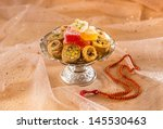 arabic sweet with rosary   Shutterstock . vector #145530463